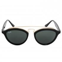 Ray-Ban Round Sunglasses RB4257 60171 50 - Black Acetate Frame - Green Lenses