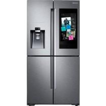 Samsung Family Hub 22 Cu. Ft. 4-Door Flex French Door Counter-Depth Refrigerator Fingerprint Resistant Stainless Steel (w/Kit)