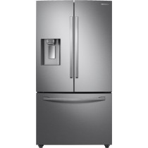 Samsung - 22.6 Cu. Ft. French Door Counter-Depth Refrigerator with CoolSelect Pantry™Stainless steel (w/Kit)