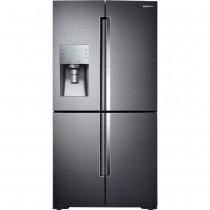 Samsung 27.8 Cu. Ft. 4-Door Flex French Door Refrigerator with Food ShowCase Black Stainless Steel (w/Kit)