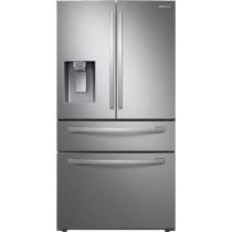 Samsung 28  cu. ft. 4-Door French Door Refrigerator with FlexZone Drawer Fingerprint Resistant Stainless Steel (w/Kit)
