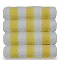 Luxury Hotel & Spa Towel 100% Cotton Pool Beach Towels - Cabana - Yellow - Set of 4