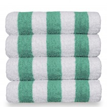 Luxury Hotel & Spa Towel 100% Cotton Pool Beach Towels - Cabana - Green - Set of 4