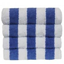 Luxury Hotel & Spa Towel 100% Cotton Pool Beach Towels - Cabana - Blue - Set of 4