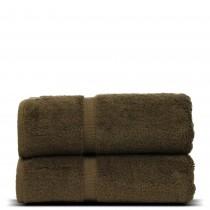 Luxury Hotel & Spa Towel Turkish Cotton Bath Towels - Cocoa - Dobby Border - Set of 2