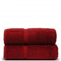 Luxury Hotel & Spa Towel Turkish Cotton Bath Towels - Cranberry - Dobby Border - Set of 2