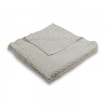 Sweater Weather Natural Sparkle Knitted Throw Blanket