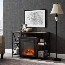 "40"" X-Frame Open Shelf Fireplace"