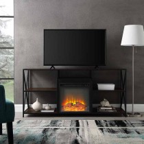 "60"" X-Frame Open Shelf Fireplace"