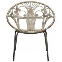 Carlson Rattan Accent Chair - Grey White Wash by Safavieh