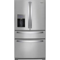 Whirlpool 26.2 Cu. Ft. 4-Door French Door Refrigerator Stainless Steel (w/Kit)