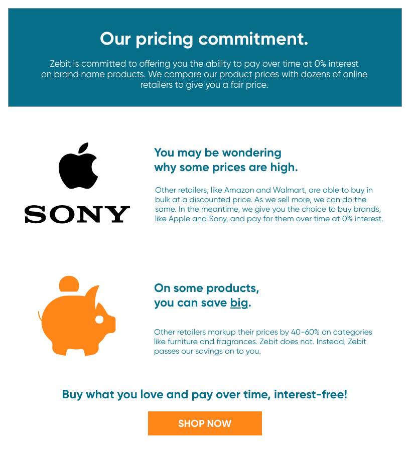 Our Pricing Commitment